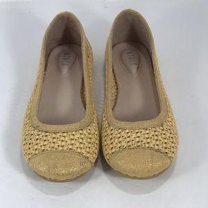 NWOB Bloch woven fabric round toe ballet flats 35